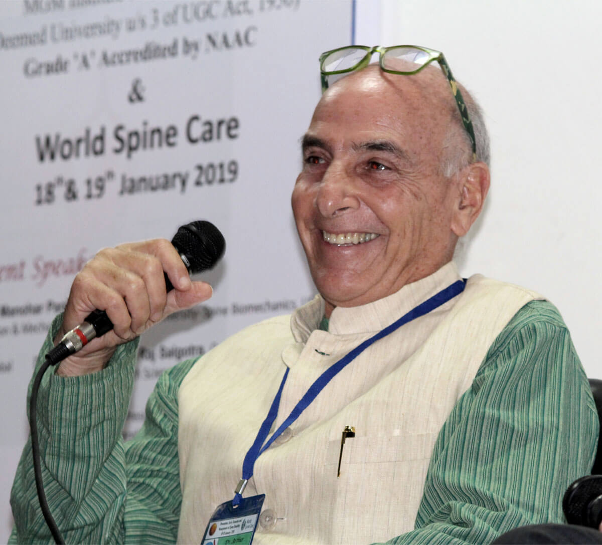 At the World Spine Care Conference 1/19